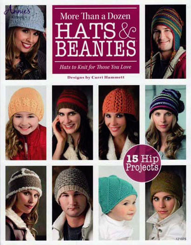 More than a dozen hats and beanies