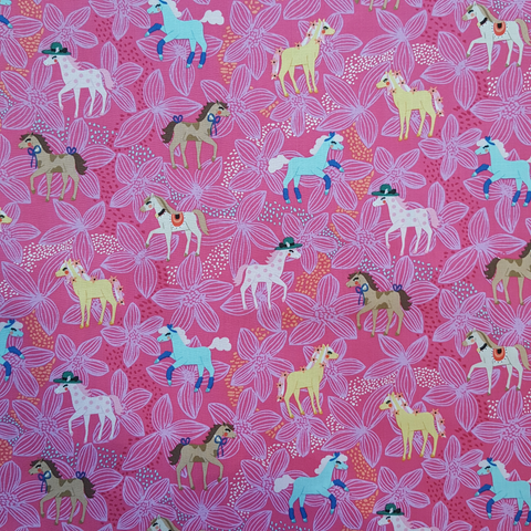 Michael Miller Pretty Ponies Pink Fabric