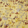 Ducks, Swans & Geese. Imprint Makower Yellow Fabric