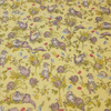 Otters. Imprint Makower Yellow Fabric