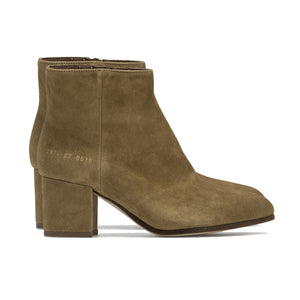 Wmn's Zip Ankle Boots Tan