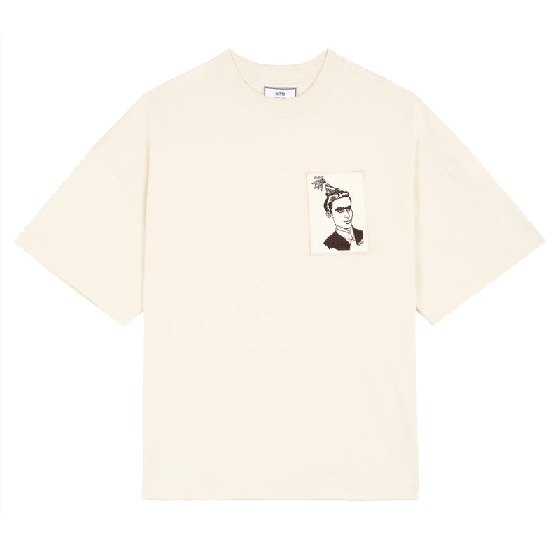 Anniversary Face Patch T-shirt Cream