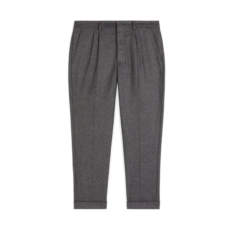 Carrot Fit Flannel Pants Heather Grey