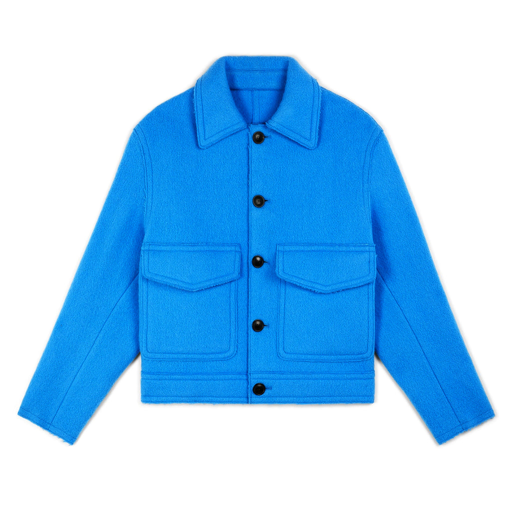 Raw Edges Boxy Jacket Sky Blue