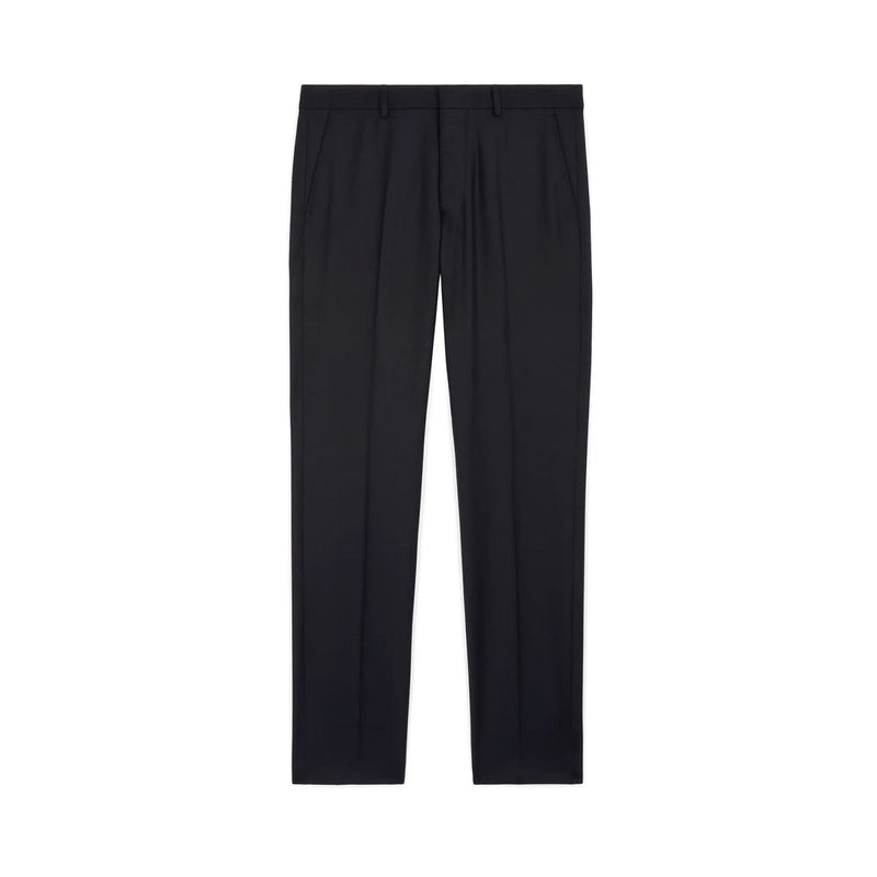 Cigarette Fit Trousers Flannel Navy