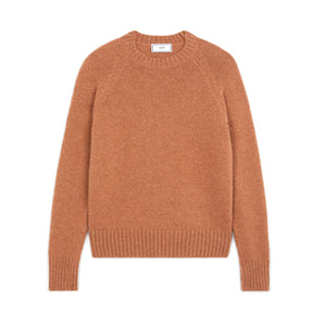 Alpaca Crewneck Pullover Brown