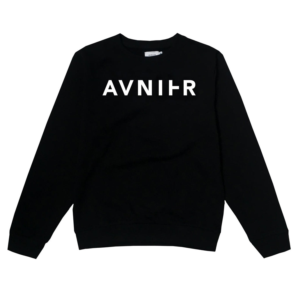 Horizon Black Crewneck
