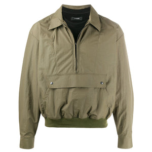 Nylon Sweat Shirt Khaki