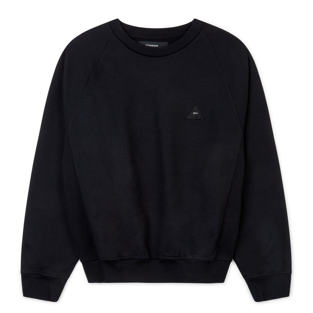 Patch Sweater Black
