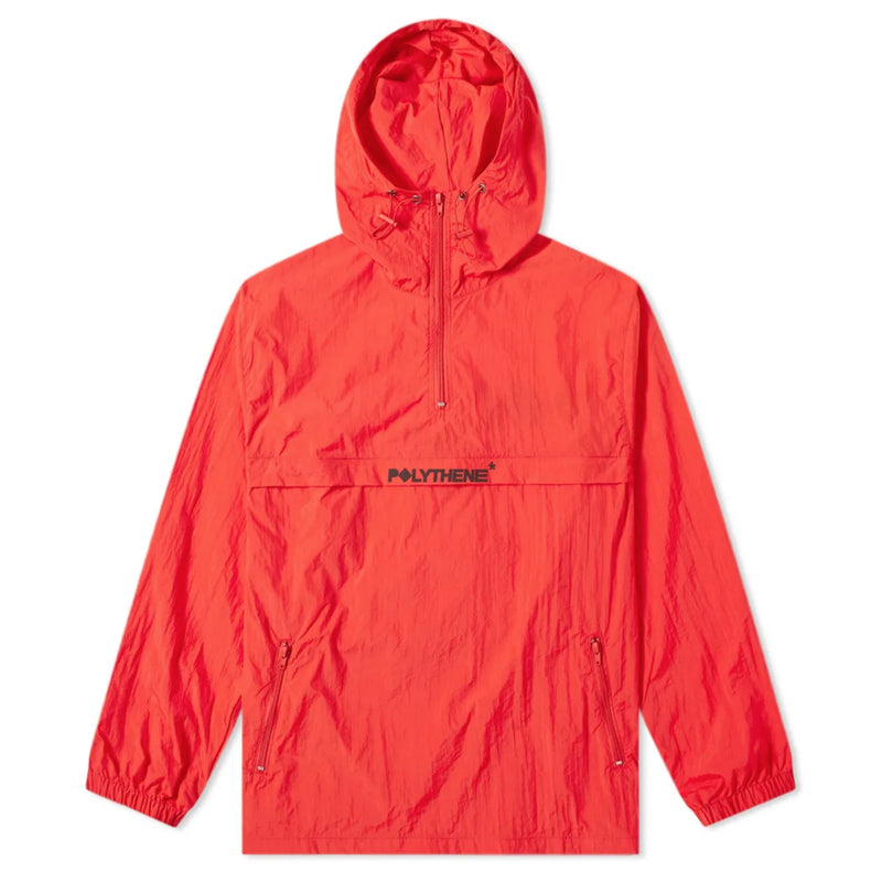 Half Zip Windbreaker Red
