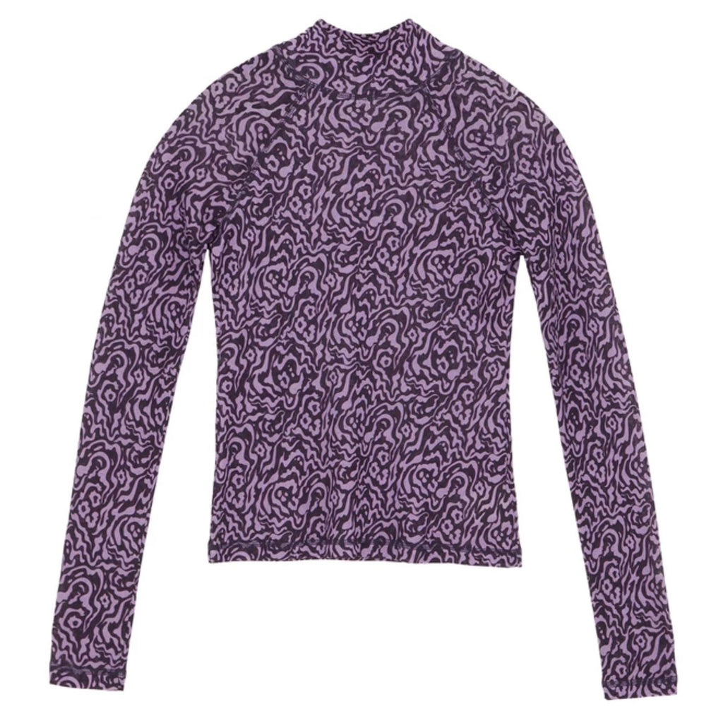 Madi Animal Lilac Turtleneck Top
