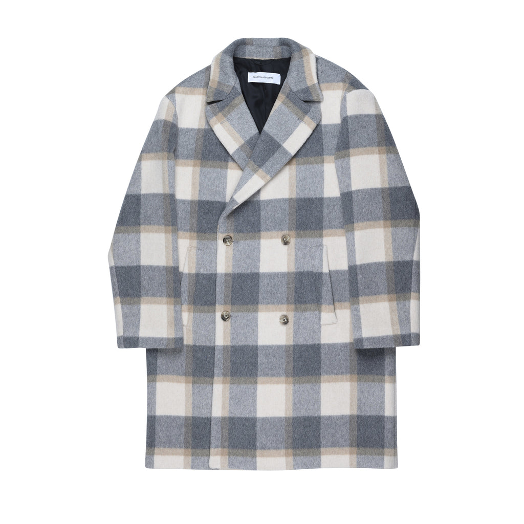 Keith Coat Grey-Sand Check