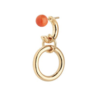Anita Orange Earring Gold