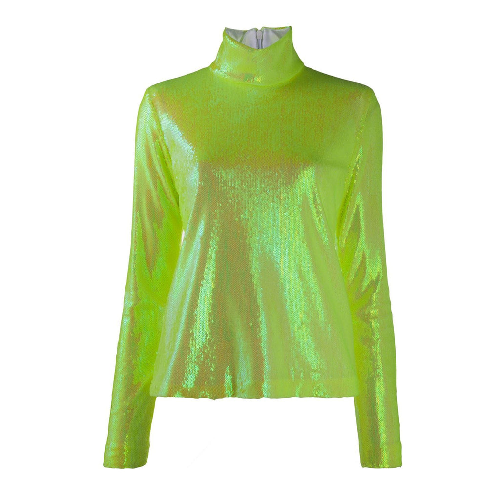 Sequin Neon Turtleneck