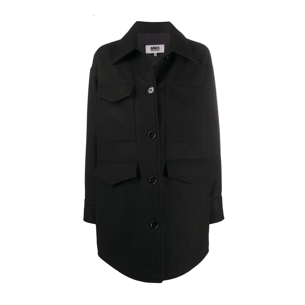 Overized Woolen Shirt Coat