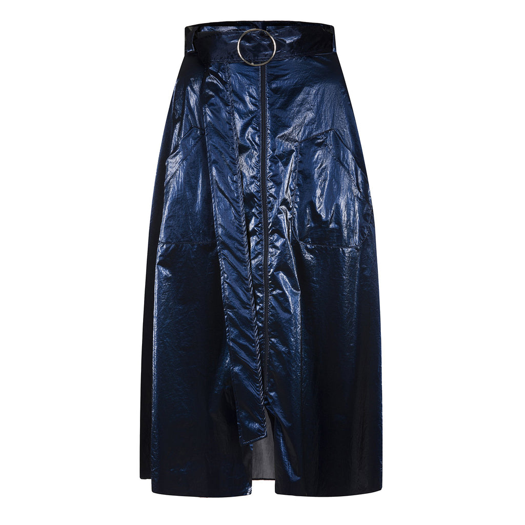 Rona Coated Metallic Skirt