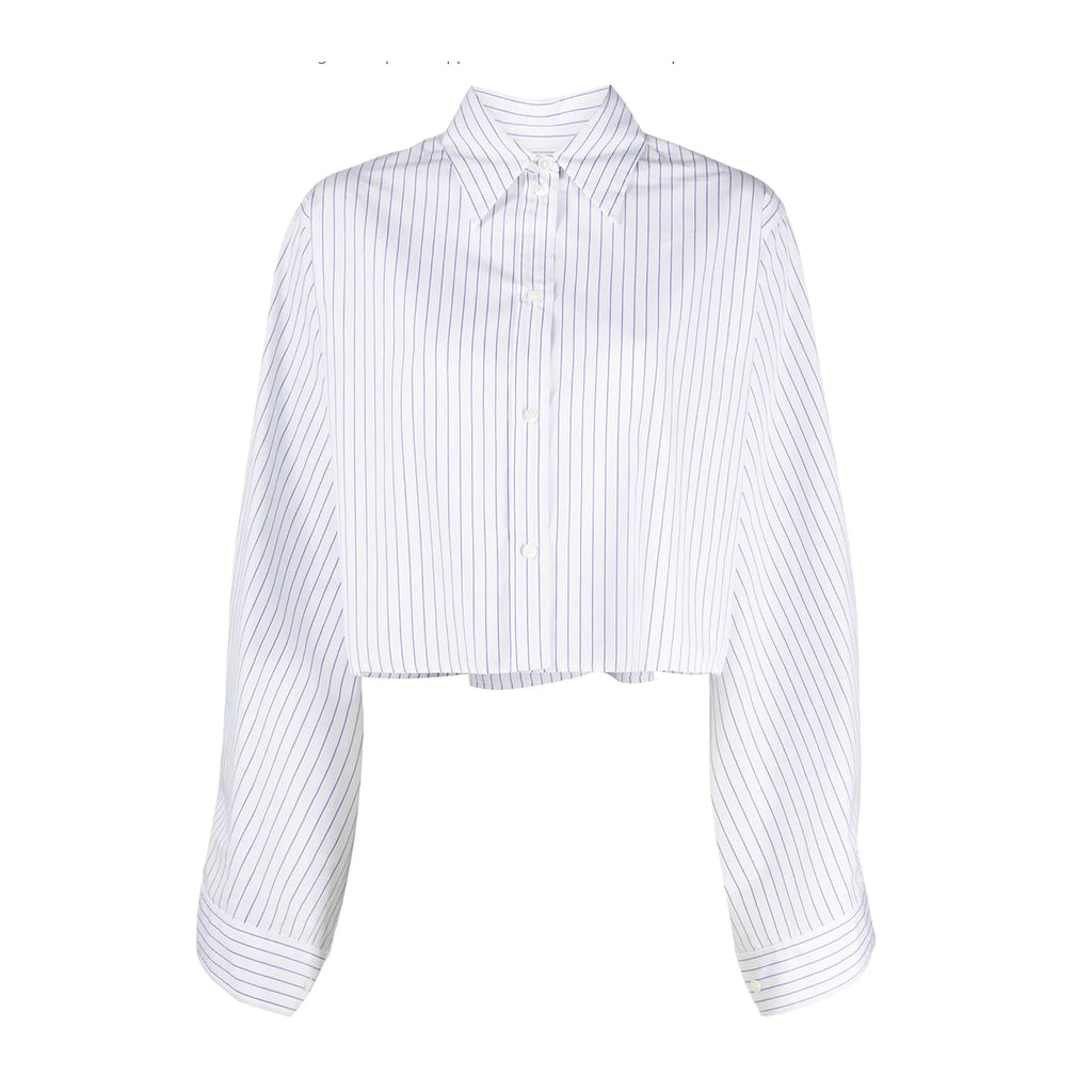 Stripe Cropped Shirt