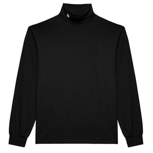 Monogram Turtleneck Black