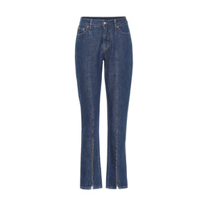 Zip Pleated Jeans