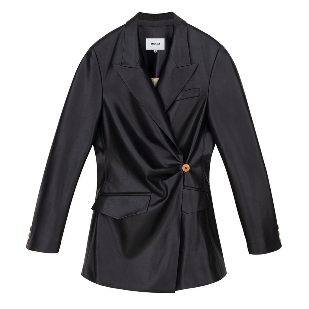 Blair Vegan Leather Blazer