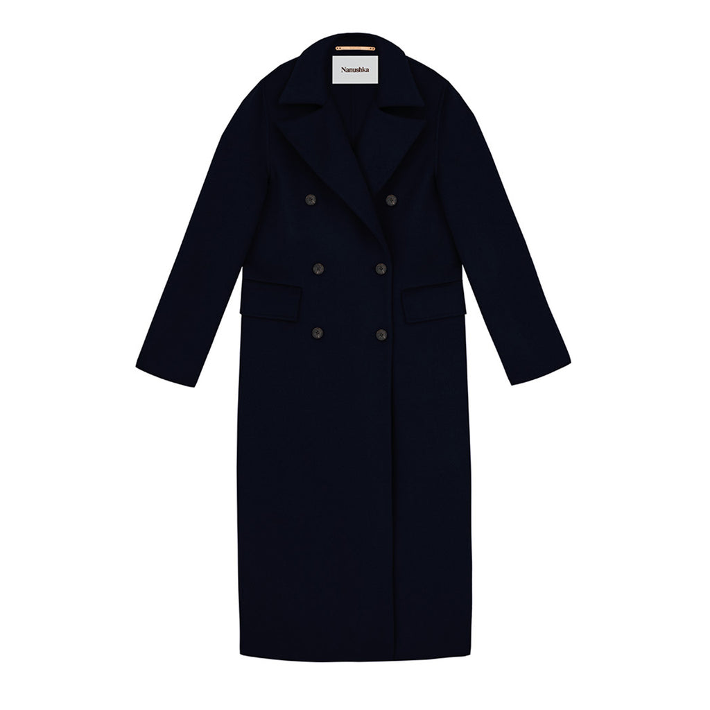 Lana Tailored Coat Navy