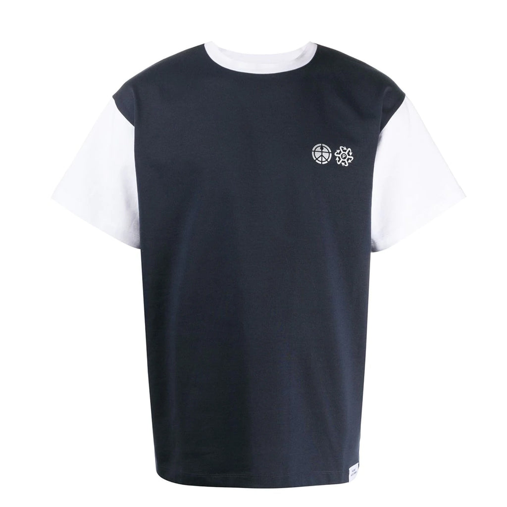 Bicolor T-Shirt Navy/White