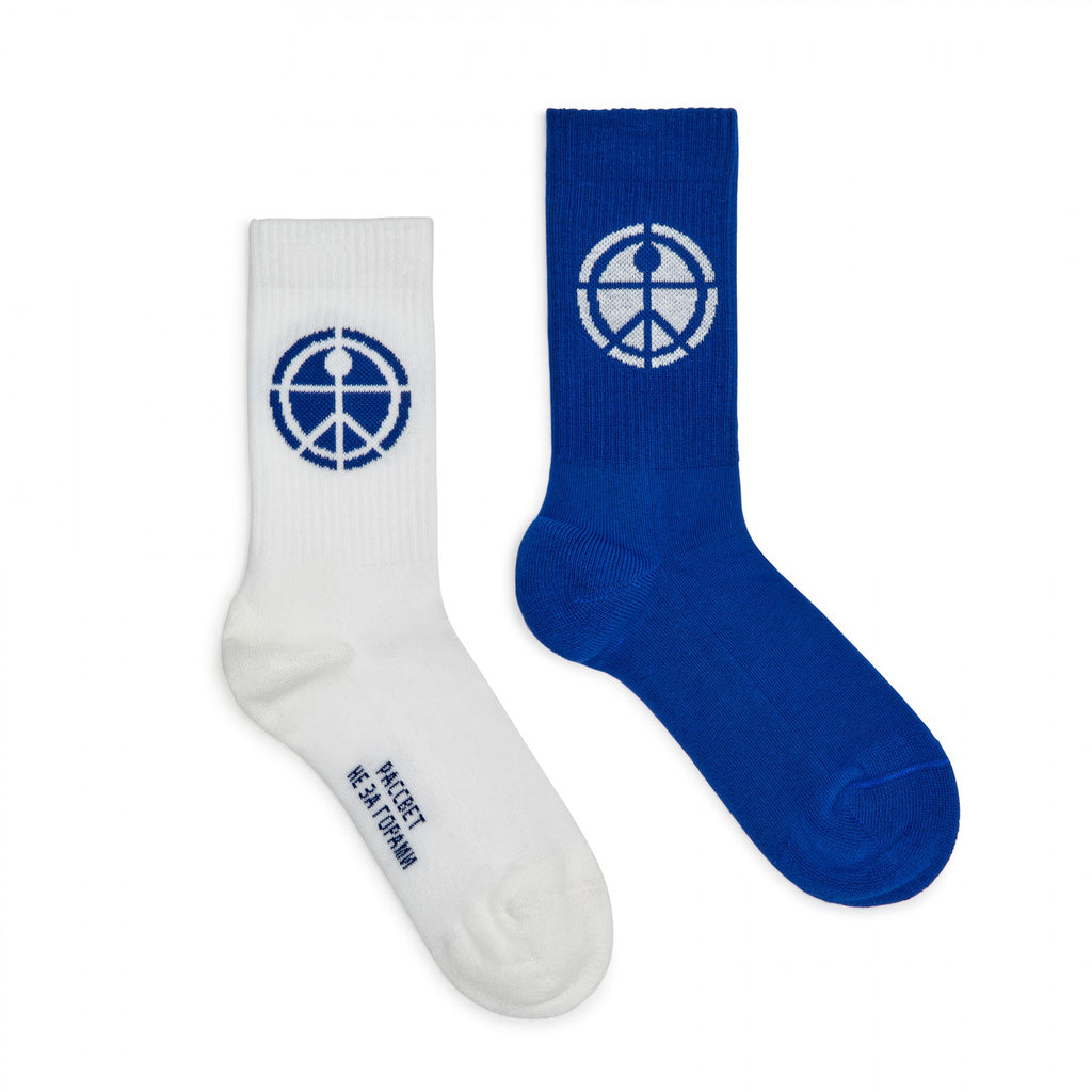 Mismatched Socks Blue/White