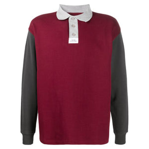 Colorblock Polo Red/Grey