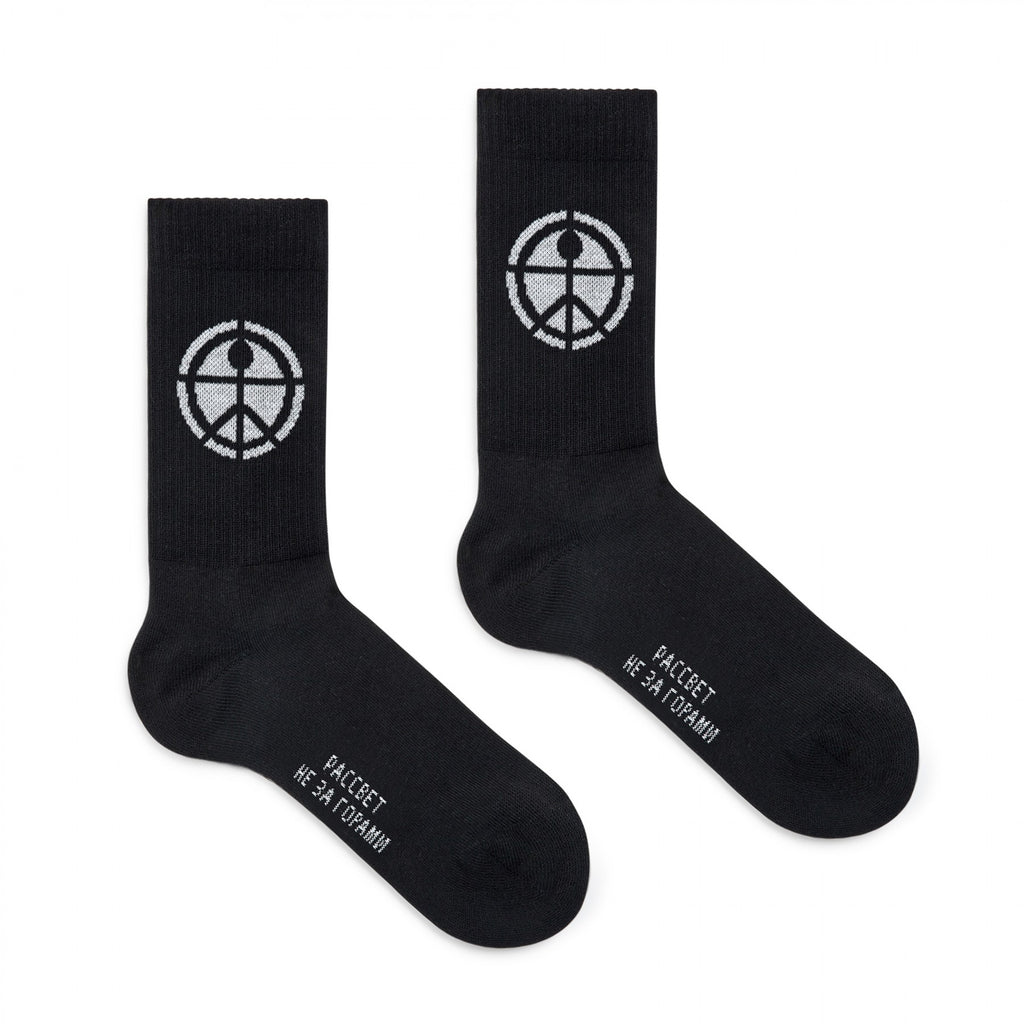 Peace Socks Black
