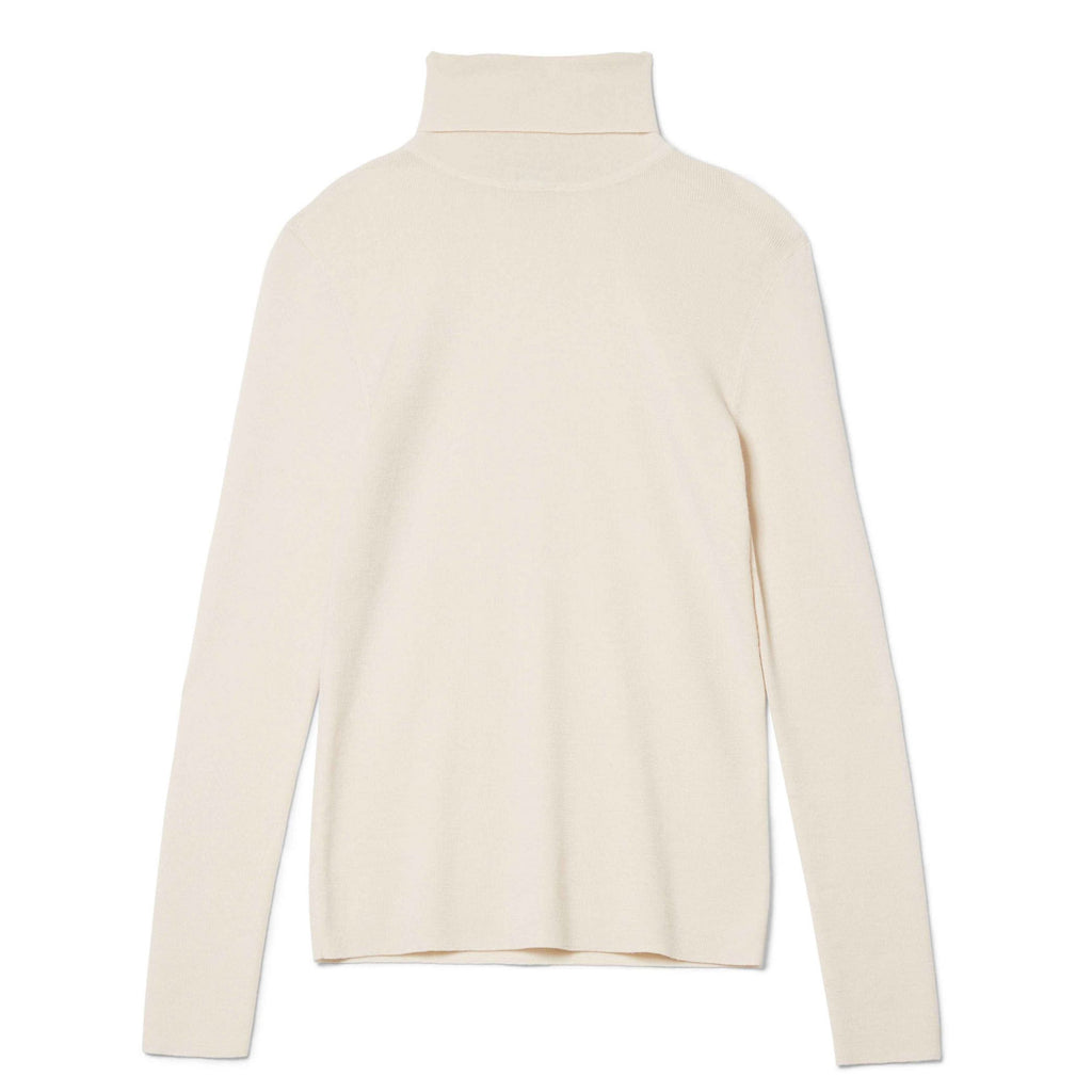 Navais Merino Turtleneck Ivory Top