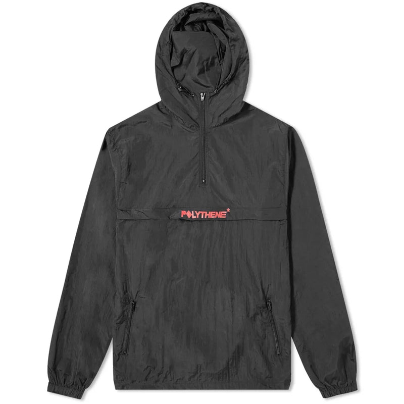 Half Zip Black Windbreaker