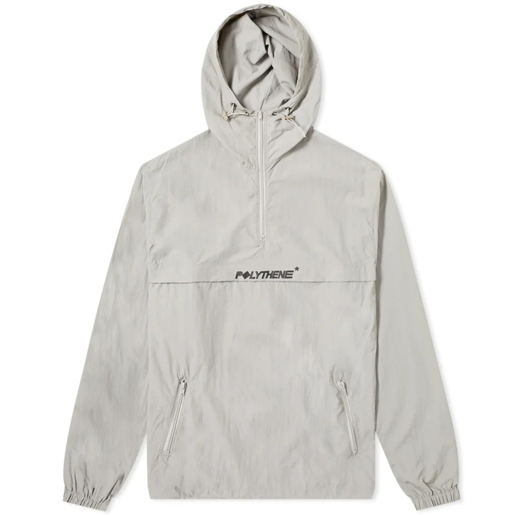 Half Zip Grey Windbreaker