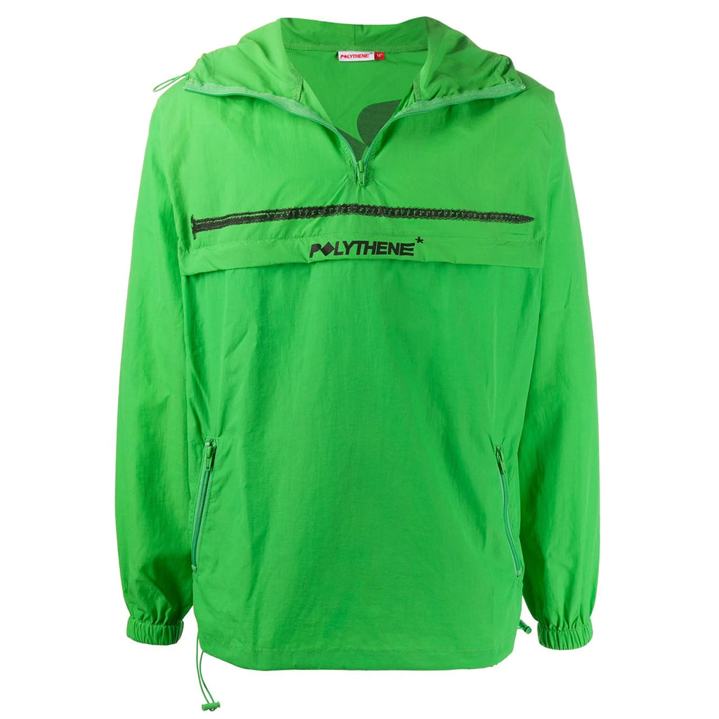 Half Zip Green Windbreaker
