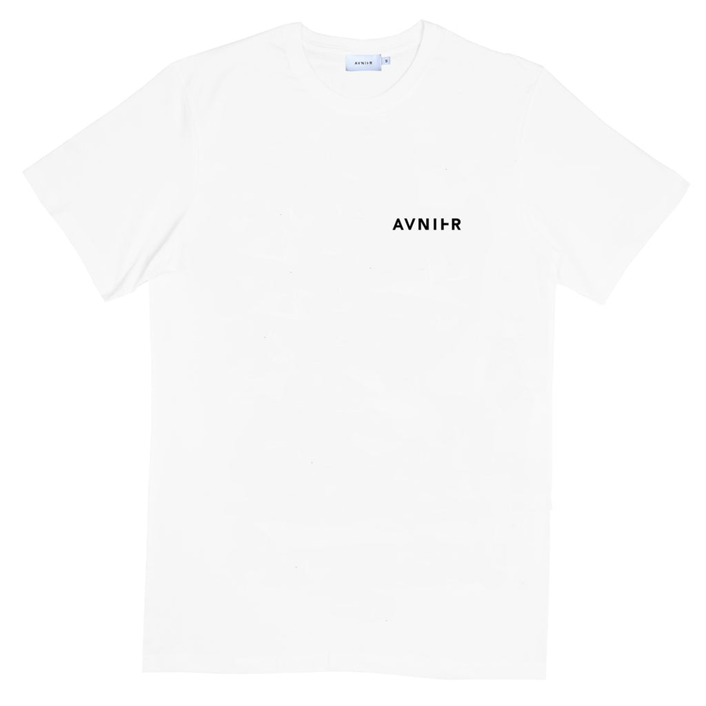 Vertical Back White T-Shirt