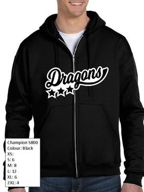 Champion Zip Up Dragons Hoodie