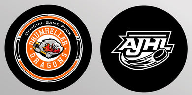 Official AJHL Dragons Game Puck