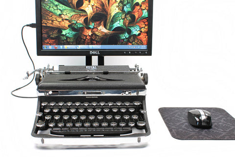 Royal USB Typewriter with Monitor