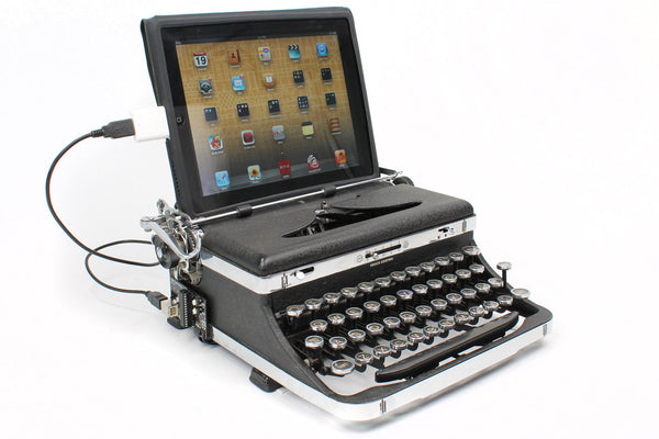 Royal USB Typewriter as iPad Dock