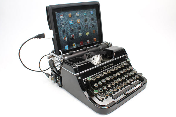 Typewriter Computer Keyboard / iPad Stand (Model C)