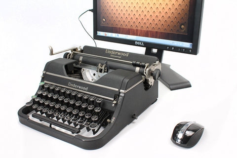 Typewriter Computer Keyboard / iPad Stand (Model D)