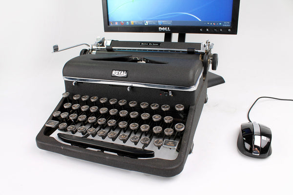USB Typewriter Computer Keyboard/Dock (Royal Quiet Deluxe)
