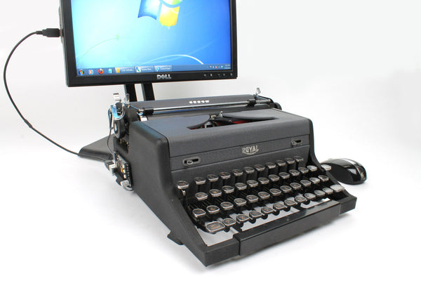 USB Typewriter Computer Keyboard/Dock (Royal Arrow)
