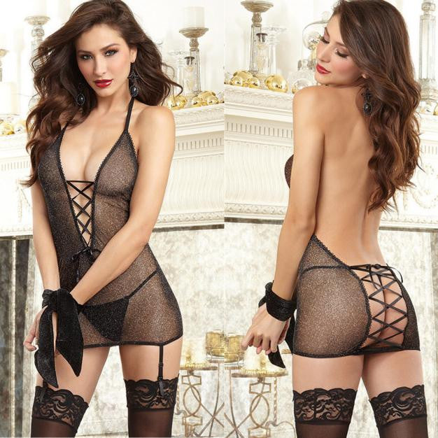 Women Strap Translucent Women Briefs Underwear