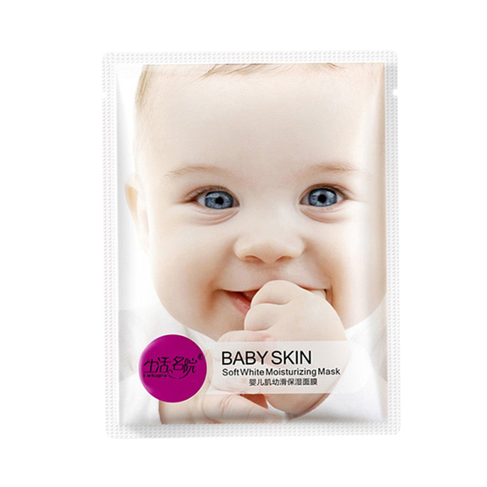 Baby Skin Whitening Soft Gentle Hydrating Smooth Facial Mask Moisturizing Skin Face Wrap Mask