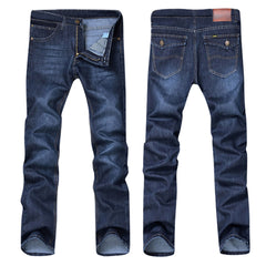 Men's Casual Autumn Denim Cotton Hip Hop Loose Work Long Trousers Jeans Pants