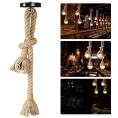 LEDMOMO 1M Pendant Hemp Lamp Rope Rustic Hanging Lights for Bedroom Restaurant Cafe Bar Country Style Decoration