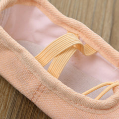 Canvas Ballet Pointe Dance Shoes Fitness Gymnastics Slippers for Kids Children