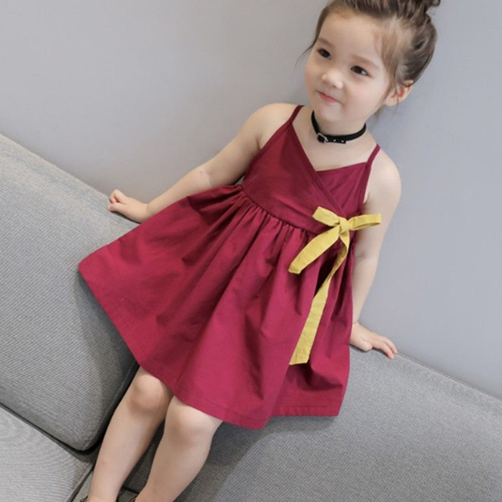 Toddler Girls Summer Princess Kids Baby Party Wedding Sleeveless Dress