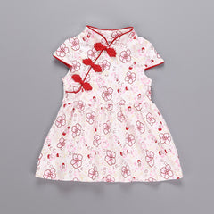 Toddler Baby Girls Kids Flowers Cheongsam Floral Party Princess Dresses