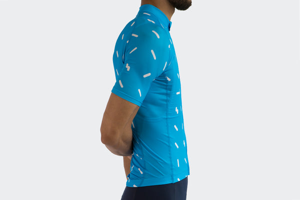 Men's Blue Sprinkles Race Fit